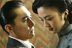 CHAM KAM CHUEN - Tang Wei (right) and Tony Leung star in Ang Lee's Lust, Caution.