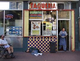 Taqueria Cancun on Market: Urban ambience. - C. ALBURGER