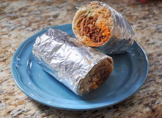 Taqueria La Alteña's al pastor burrito. - IANN IVY
