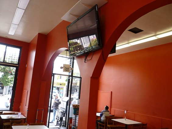 Taqueria San Jose's gone orange, possibly to mask the carrot-juice stains. - ALEX HOCHMAN