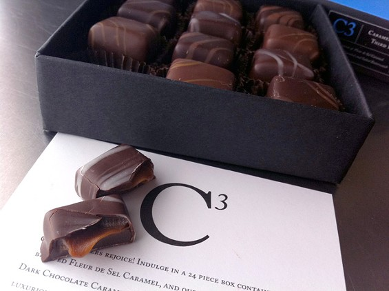 Tasty times three: Recchiuti Confections' Caramels to the Third Power, $35. - LOU BUSTAMANTE