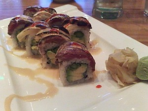 Tataki's Early Bird is the best meat sushi roll in town.