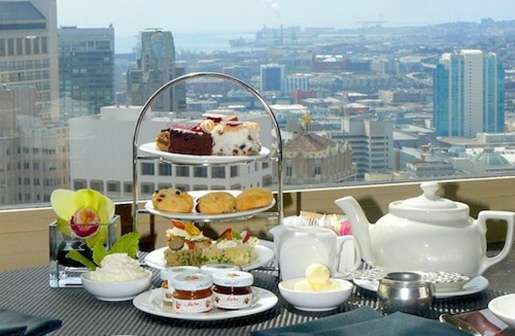 Tea tier at Top of the Mark