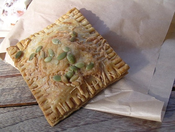Tell Tale's pumpkin-leek pop tart with sage, $3.50. - JOHN BIRDSALL