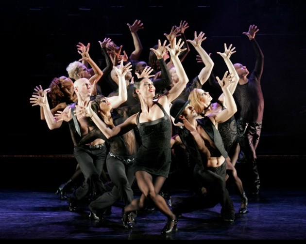 Terra C. MacLeod as Velma Kelly and the cast of Broadway's Chicago. - PAUL KOLINK