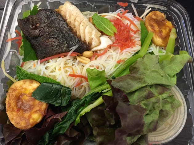 Thai Papaya Noodle Salad with Black Cod - PETER LAWRENCE KANE