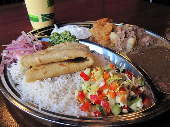 Thali with lamb curry ($10.95). - MSWINE/FLICKR