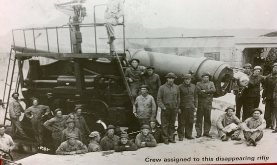 The 1904-vintage gun, and a newer vintage crew