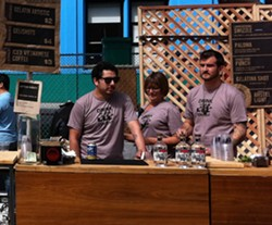 The 2011 street bar ready for business - LOU BUSTAMANTE
