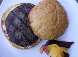 The $6 grass-fed burger at Locavore. - JOHN BIRDSALL