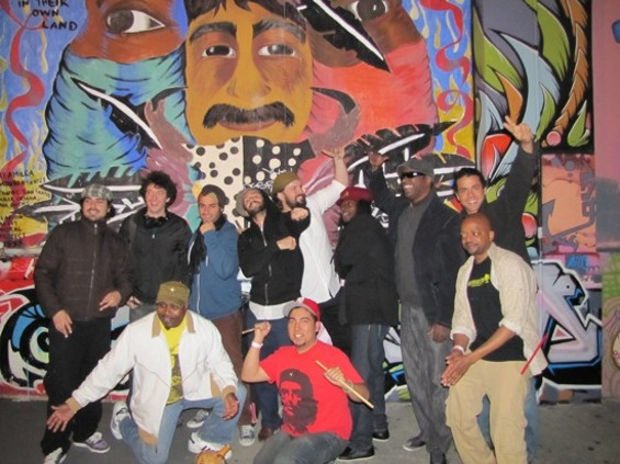 The Afrolicious crew outside the Elbo Room