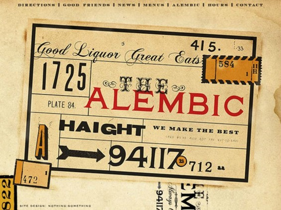 The Alembic: Such good food, such a confusing website. Don't try this on an iPhone.