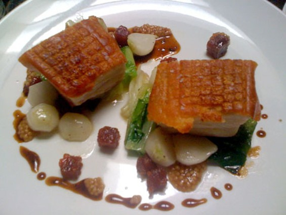 The Alembic's pork belly with quince paste. - JONATHAN KAUFFMAN