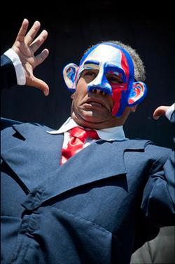 FLETCHER OAKES - The audacity of mime: Michael Gene Sullivan, arrayed in scraps of hope.