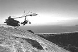 PAUL  TRAPANI - The author and her instructor airborne over Mount Tamalpais.
