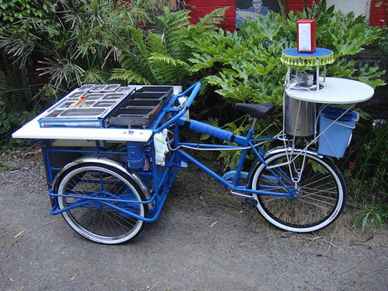 The bike Todd Barricklow designed for Weird Fish. - CALIFORNIA TACO TRUCKS