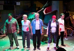 The Boxcar Theatre cast of Little Shop of Horrors