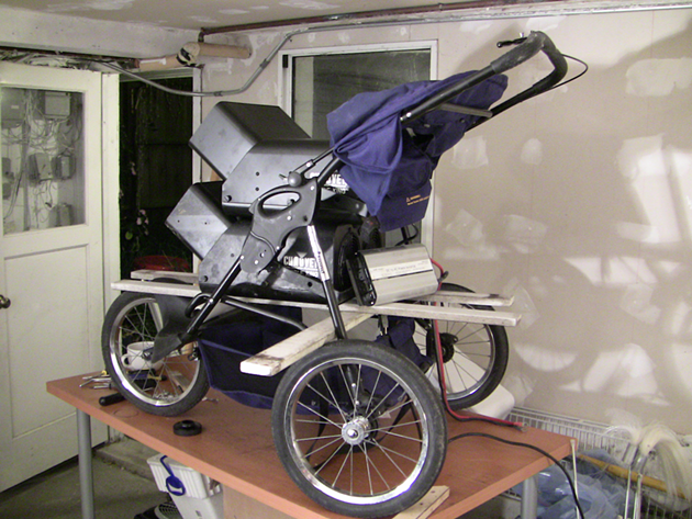 The bubble stroller on display - THE HIPPIE TRAP GUY