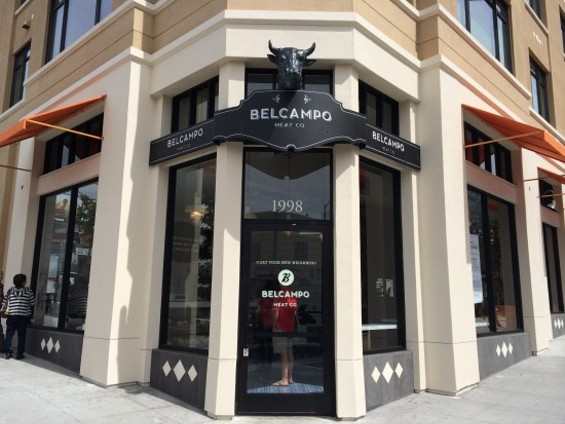 The bull head adorning the front door endows Belcampo with an almost Babylonian quality. - PETE KANE