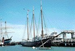 The C.A. Thayer at Hyde Street Pier.