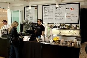 The cafe serves up East Coast-deli memorabilia with a Cali/kosher twist. - C. ALBURGER