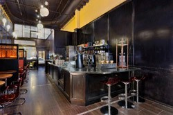 The cafe's interior, where brewing options abound. - MA*VELOUS