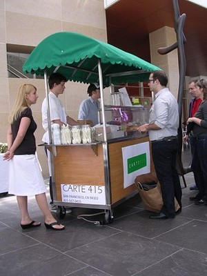 The cart brought street food with a chef's touch to lunch patrons downtown. - J. BIRDSALL
