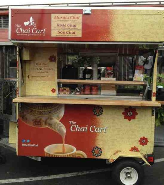 The Chai Cart's latest mobile station. - PAAWAN KOTHARI