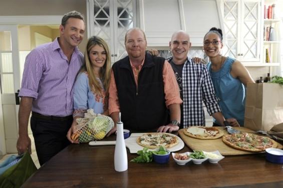 The Chew Crew: Clinton Kelly, Daphne Oz, Mario Batali, Michael Symon and Carla Hall (l-r)