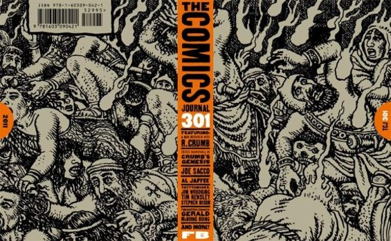 The Comics Journal #301 cover was designed by Eric Skillman.