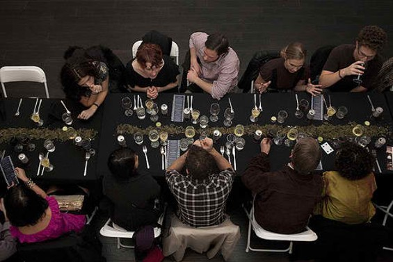 The communal dinner table - COURTESY OF NOISE POP INDUSTRIES