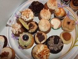 The contents of our cupcake box. - TAMARA PALMER