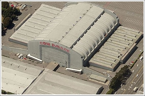 The Cow Palace, site of the rave in question -- and never the first answer to the question 'Where would you like to spend your last night on earth?'