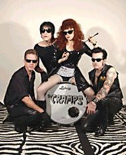 The Cramps, wearing their sunglasses at night.