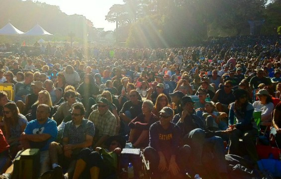 The crowd at 2011's HSB festival. - HARDLY STRICTLY BLUEGRASS