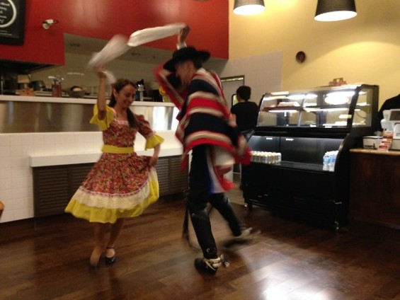 The Cueca: definitely different than the Macarena. - OMAR MAMOON