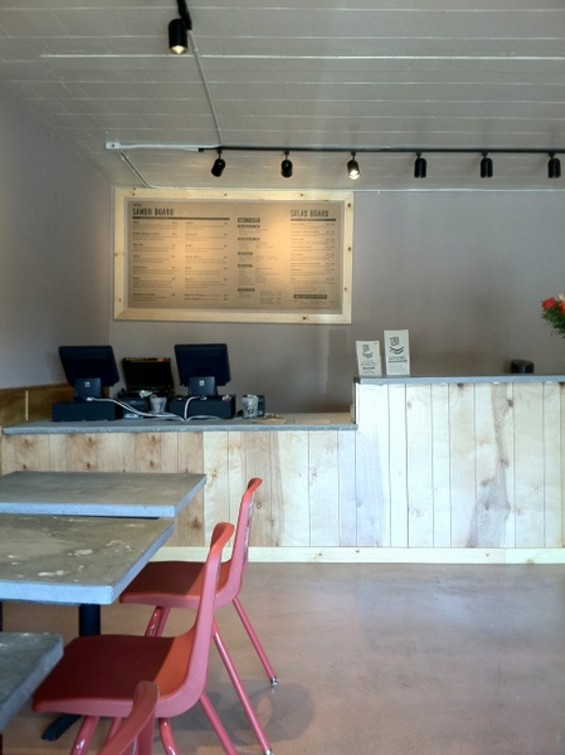 The Deli Board's new interior. - THE DELI BOARD