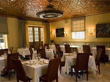 The dining room at Table Fifty-Two, where the Obamas had their V-Day meal. - TABLEFIFTY-TWO.COM
