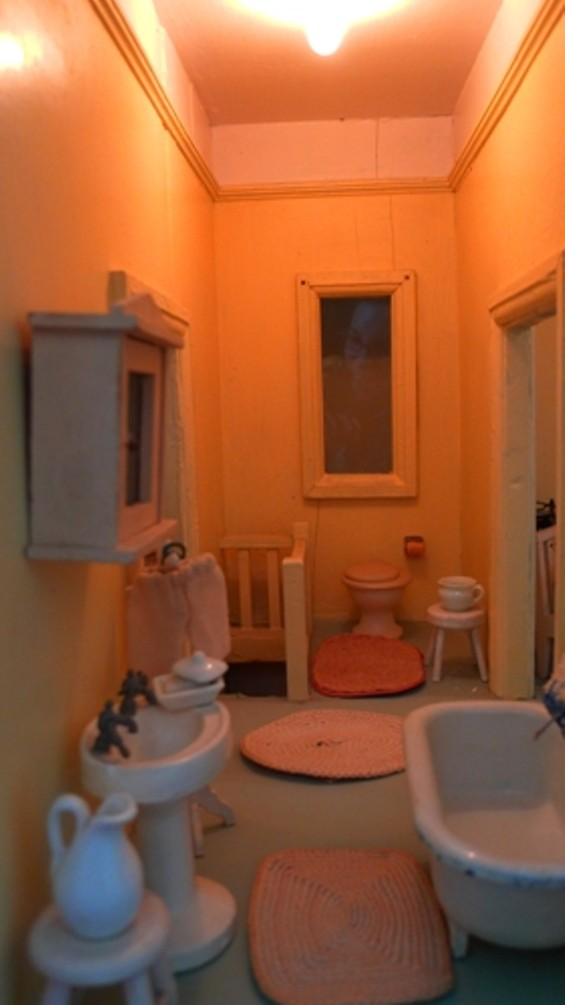 The dollhouse's bathroom.