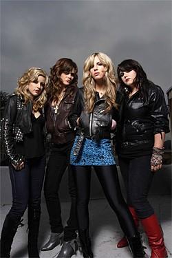 NEIL ZLOZOWER - The Donnas aim for hair-metal glory.