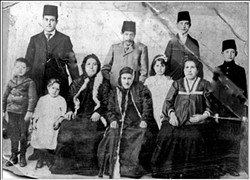 The Eskenazi family in Çanakkale, Turkey, circa 1914.