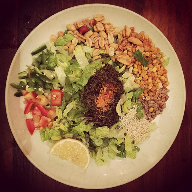 The famed tea leaf salad. This picture was taken at the Burma Superstar, but the portion and presentation is the exact same at Burma Love. - OMAR MAMOON