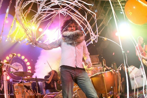 The Flaming Lips performing at Bimbo's last night. - CHRISTOPHER VICTORIO