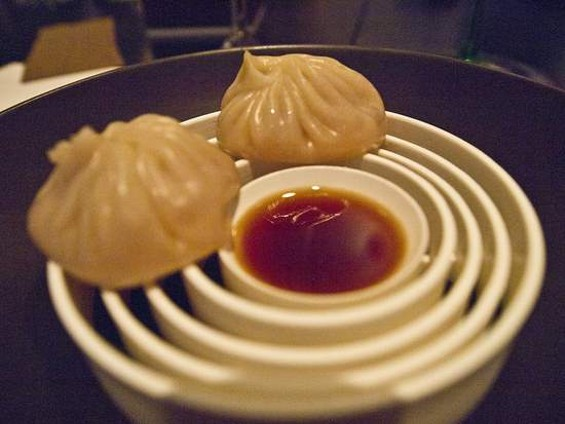 The foie gras soup dumplings at Benu. - SJSHARKTANK/FLICKR