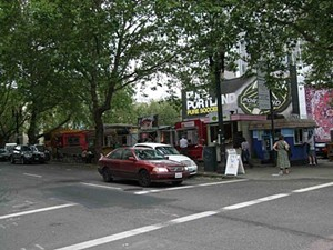 The food carts at Alder and Ninth Streets, Portland. - TAMARA PALMER