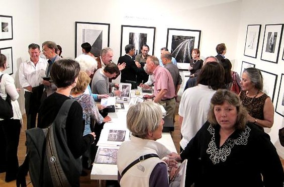 The galleries at 49 Geary are always among the hot spots on First Thursday in San Francisco.