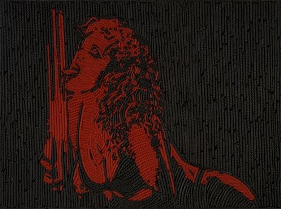 "The infamous Nomi from ""Showgirls,"" rendered in real licorice by artist Jason Mecier. - JASON MECIER"