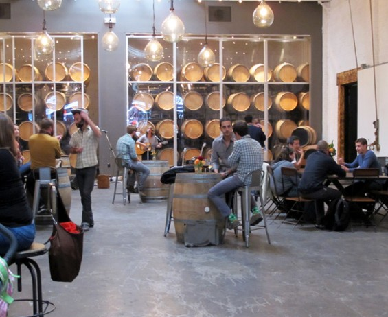 The inside of the spacious winery - LOU BUSTAMANTE