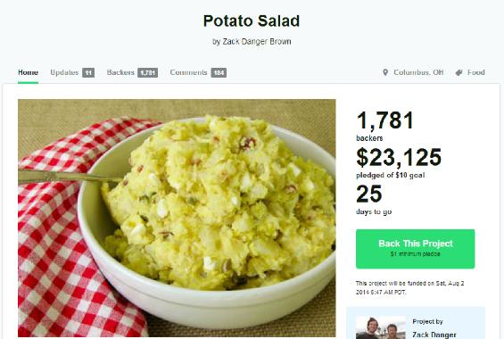 The Internet is filled with strange, potato-loving individuals. - KICKSTARTER