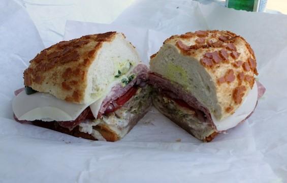 The Italian Combo from Genova Delicatessen in Oakland's Temescal neighborhood - KATE WILLIAMS
